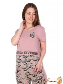 футболка Милитари-пудра